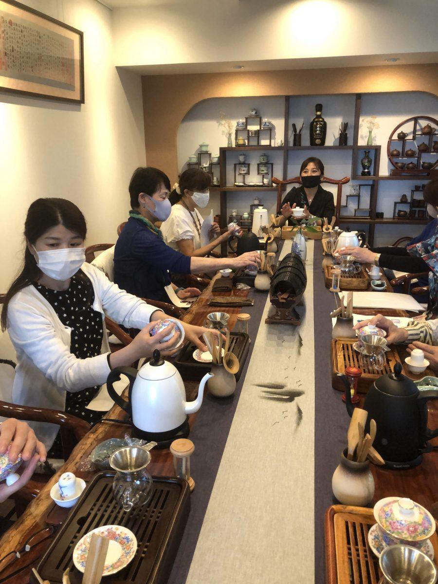 第10回中国茶教室(寺山紅・和)の風景